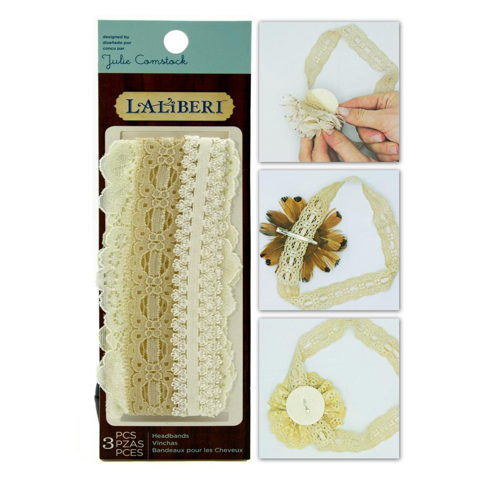 Laliberi Soft Lace Hair Bands Assorted Light