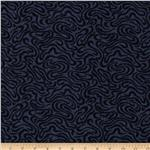 "108"" Moda Quilt Backing Pheasant Hill Puddles Navy"