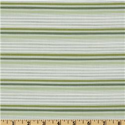 Kaufman Dobby Stripe Shirting Green