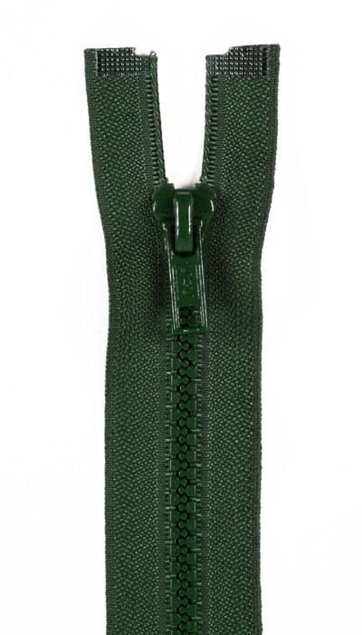 "Sport Separating Zipper 24"" Forest Green"
