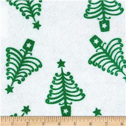 "Holiday Felt 9x 12"" Craft Cut Holiday Tree White"