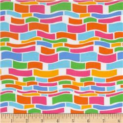 Flannel Wavy Block Multi