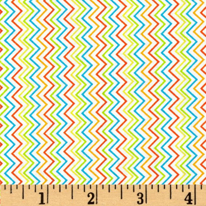 Bright Eyed and Bushy Tailed Chevron Stripe Beige
