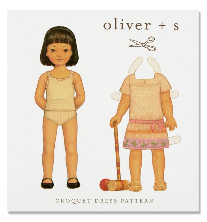 Oliver + S Croquet Dress Pattern Size 6M-4T