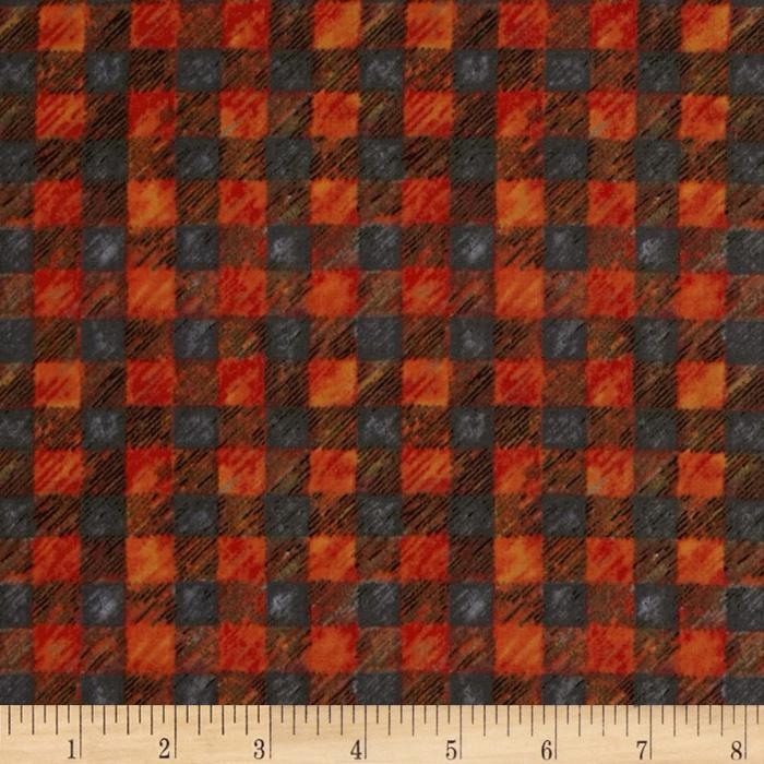 Ramblin' Woods Plaid Orange/Grey