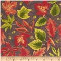 Fall Novelties Large Tossed Leaves Brown