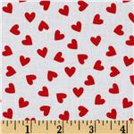 0268075 Brights &amp; Pastels Basics Hearts White/Red