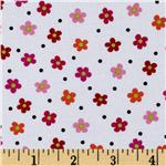 Tippy Toes Small Flowers White/Multi