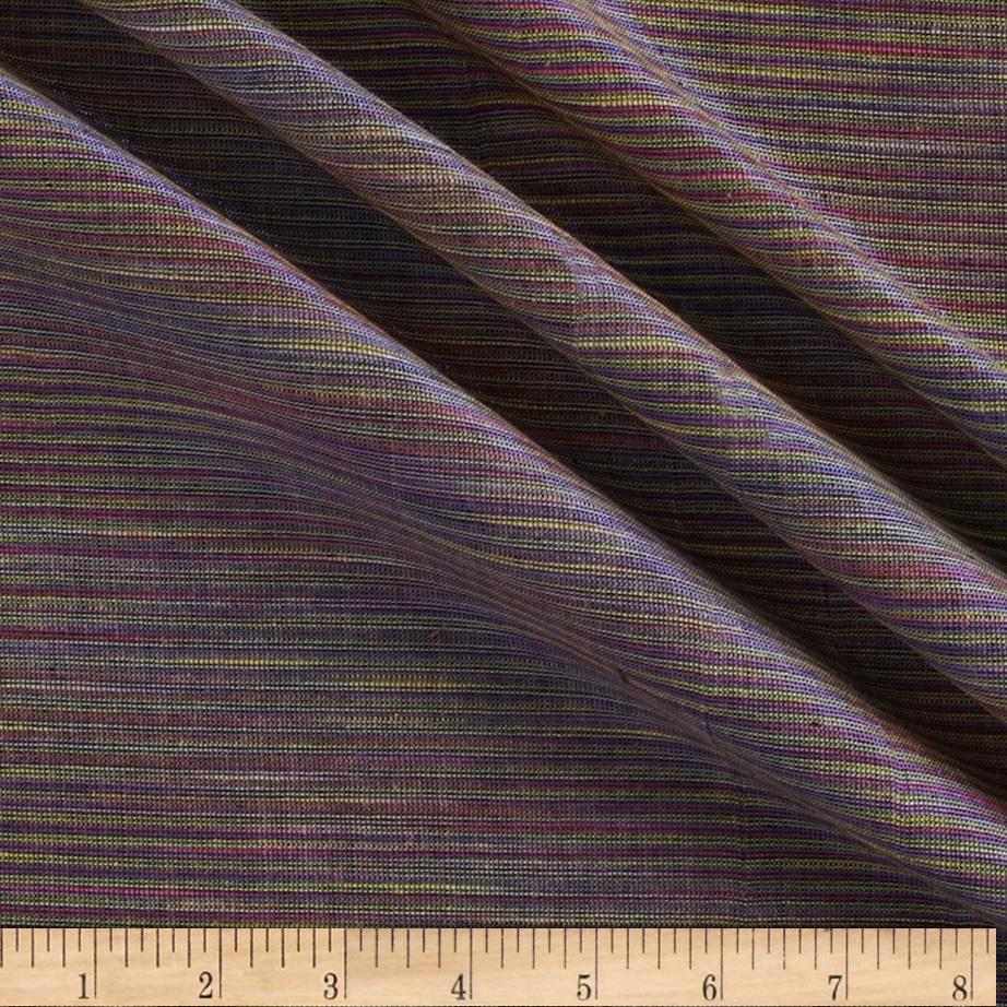 Sedona Sunset Metallic Shot Cotton Stripes Purple Multi