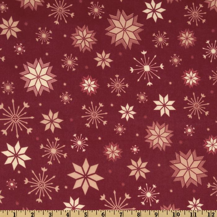 Nordica Flannel Snowflakes Berry