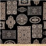 206108 Vintage Couturier 2 Doilies Charcoal