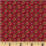 0291135 Party of Twelve Small Paisley Turkey Red
