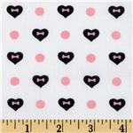 FO-840 High Style Heart Bones Black/White
