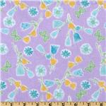 Comfy Flannel Tulips Purple