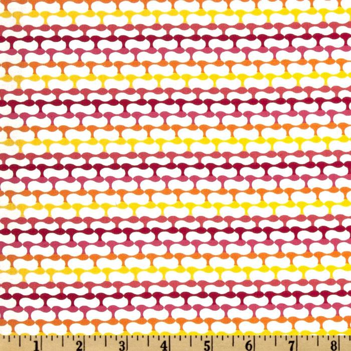Crazy Daisy Link Fuchsia/Orange/Yellow