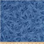 110&quot; Wide Quilt Backing Butterfly Blue