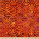 0290059 Indonesian Batiks Pop Art Hexagon Stripe Wild