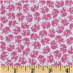 0290525 Michael Miller Little Elephants Flannel Orchid