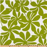 Premier Prints Twirly Chartreuse/White