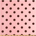 Premier Prints Polka Dot Pink/Brown