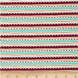Festive Forest Scallop Stripe Multi