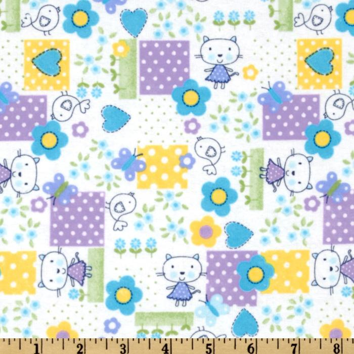 Comfy Flannel Cartoon Cat Purple