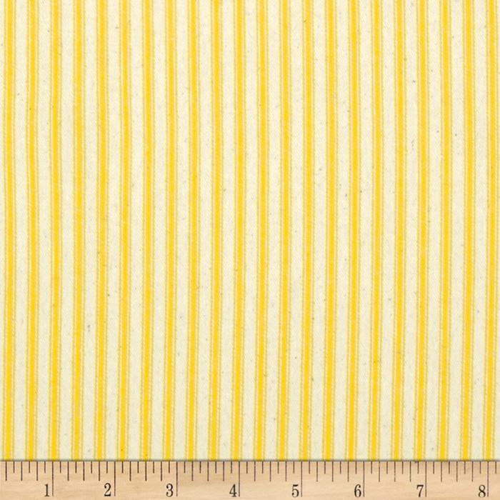 "44"" Ticking Stripe Yellow"