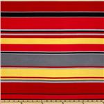 Stretch ITY Jersey Knit Stripe Red
