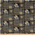 NFL Wide Cotton Broadcloth New Orleans Saints Patchwork Black/Gold