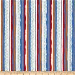 Amusement Park Stripe Dark Blue