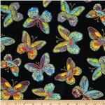 Glimmer Butterfly Black