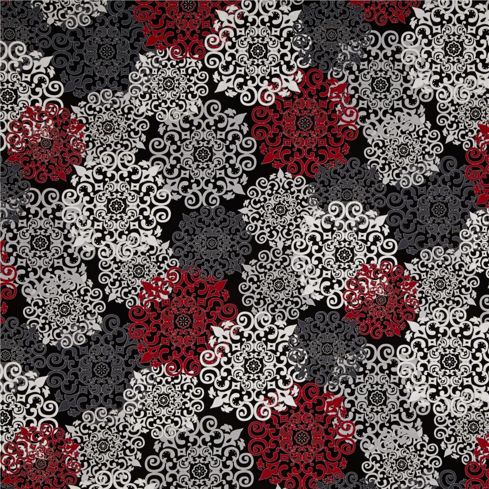 Black, White & Currant 4 Graphic Black