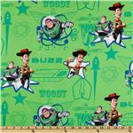 DE-768 Disney Toy Story Buzz And Woody Stars Lime