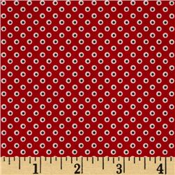 Riley Blake Pirate Matey's Pirate Dots Red