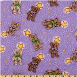 Boyds Bears Tossed Bear With Stars Lilac