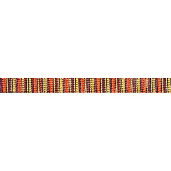 "3/8"" Sue Spargo Ribbon Mini Stripes Orange/Gold"