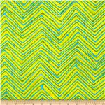 Moda Simple Marks Summer Trails Chevron Acid Green