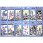 BV-520 Michael Miller Flower Fairies Panel Periwinkle
