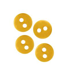 Novelty Button 3/8'' Diminutive Yellow