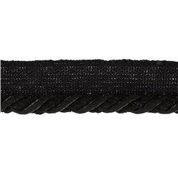 "Mariel 1/4"" Twisted Cord with Lip Trim Black"