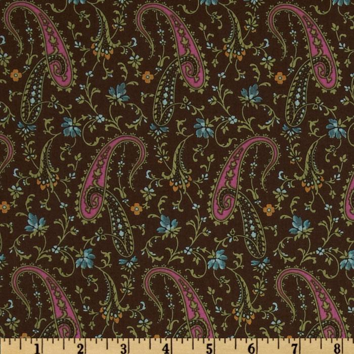 Americana Collection Paisley Turquoise/Chocolate