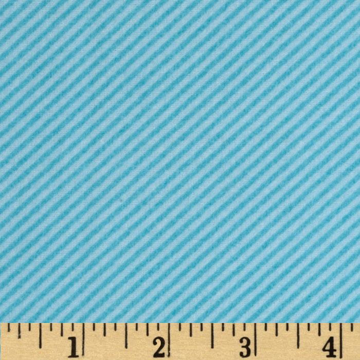 Mischief Flannel Tire Tracks Stripe Aqua/Sea