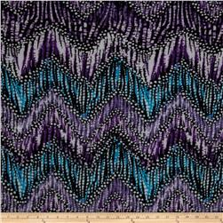 Designer Stretch ITY Abstract Purple/Black