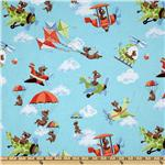 Susybee Zig Helicopters Kites &amp; Clouds Blue