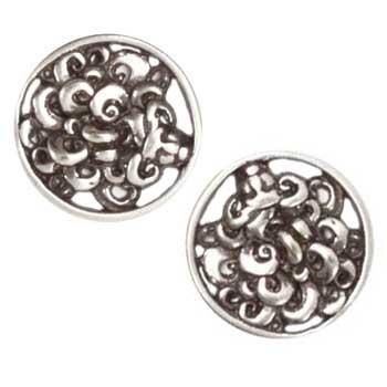 Metal Button 7/8&#39;&#39; Medusa Antique Nickel
