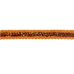 1/2'' Hologram Sparkle Edge Sequin Trim Orange