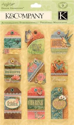Susan Winget Nature Nature Tag Grand Adhesions 9/pcs