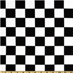 0265874 Kanvas Arnold&#39;s Diner Checkerboard Black/White