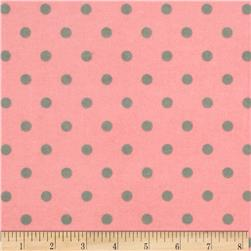 Flannel Cozy Cotton Dots Retro