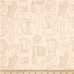 Kitschenette Kitchen Utensils Ivory